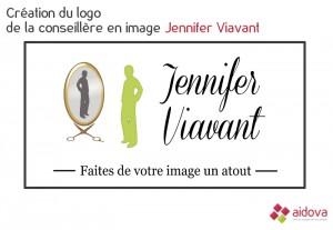 Logo de Jennifer Viavant, coach en relooking et coiffeuse à domicile