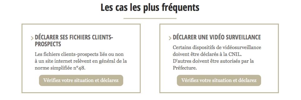 Déclaration CNIL simplifiée du fichier clients
