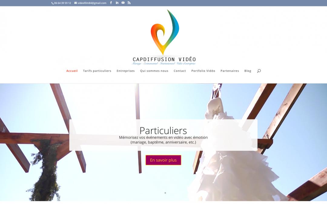 Site vitrine CapDiffusion Vidéo